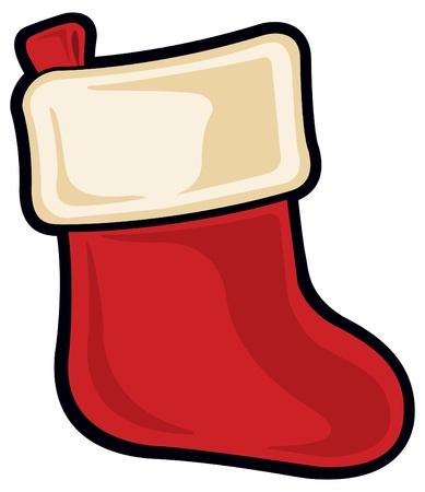 botas de navidad: Calcetín navideño Vectores