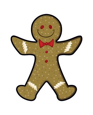 gingerbread man: Vector Gingerbread Man