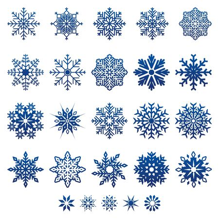 snow flakes: Vector Snow Flakes