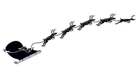 Kerstman slee en rendier