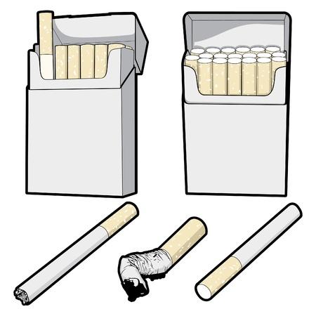 Vector Cigarettes Illustration