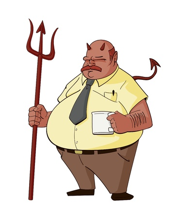 angry boss: Devil Boss Cartoon