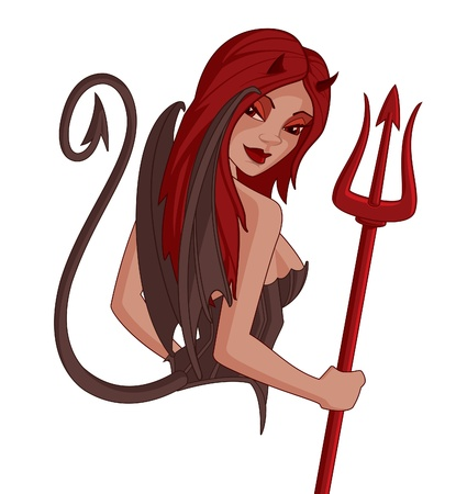 diavoli: Devil Ragazza Cartoon