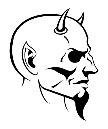 Devil Head Vector Ilustrace