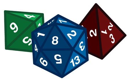 kostky: Polyhedrálních Dice Ilustrace