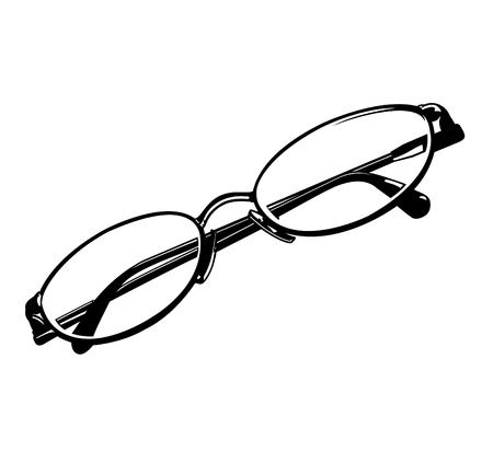 eye wear: Eye Glasses Vector