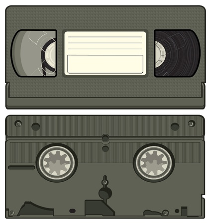 Vector illustration of a video tape cassette. Vector