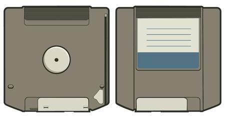 Cartoon vector illustration of a ZIP disk. Stock Vector - 12091451