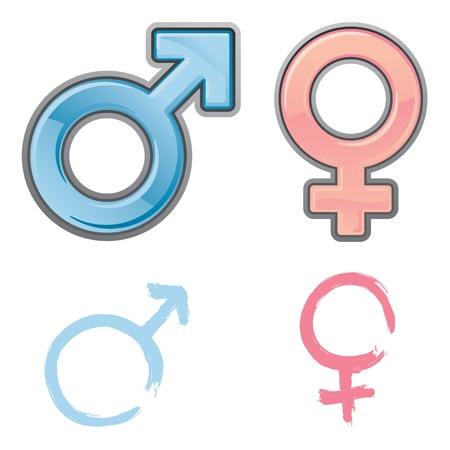 Gender Icons for Man and Woman Stock Vector - 12093366