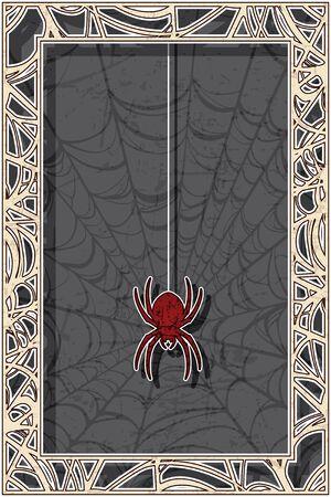 halloween spider: Halloween Spider Design Illustration