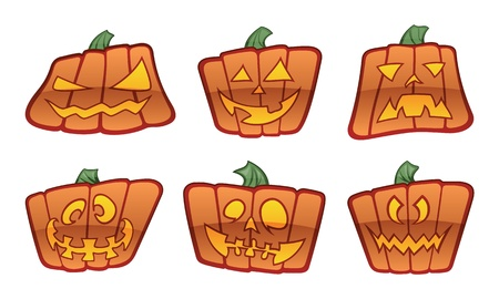 Square Pumpkin Icons Stock Vector - 12091575