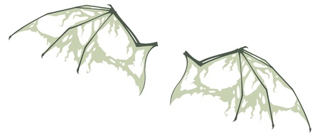 Decayed Bat Wings Vector