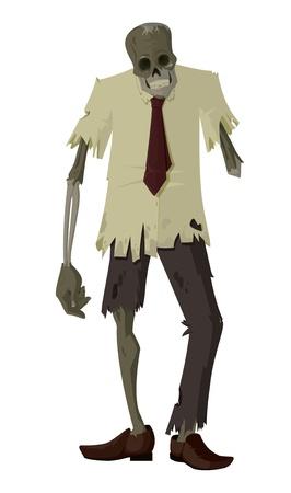 rothadó: Zombie vektor Illusztráció