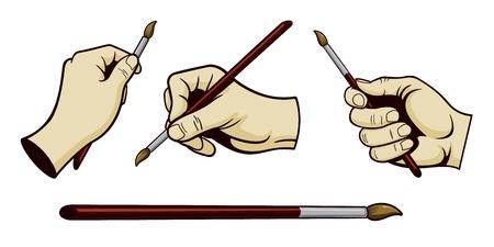 Artistic Hands Vector