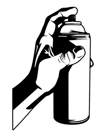 Hand With Spray Can Vector