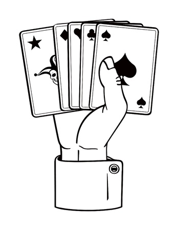 Holding Playing Cards Vector