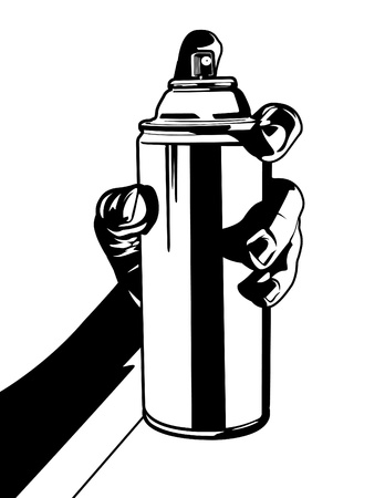 Hand with Spray Can Two Stock Vector - 12091520