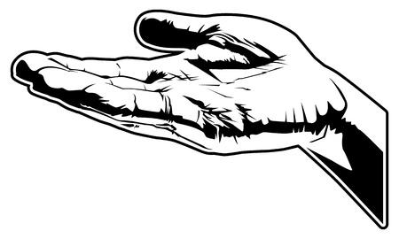 開いた手のベクトル