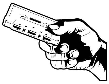 audio: Holding a Cassette Tape Illustration