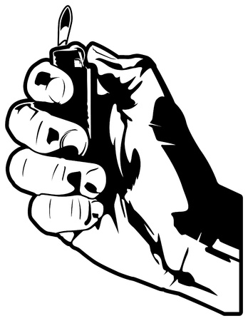 Hand with Lighter Vector