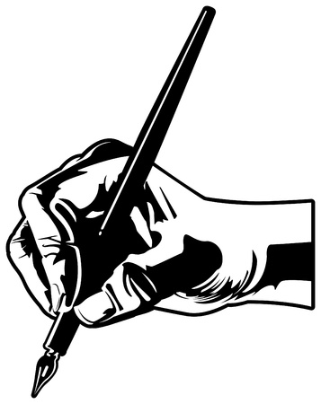 Hand with Pen Stock Vector - 12093457