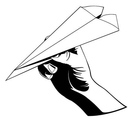 papierflugzeug: Werfen eines Paper Airplane