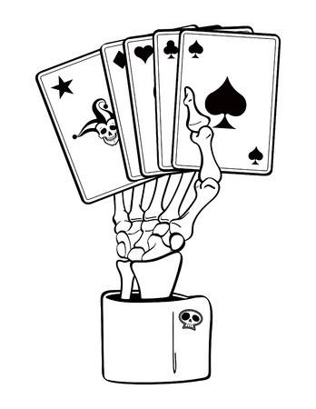 cuffs: Skeleton Hand with Cards