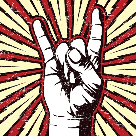 palm of hand: Rock On!