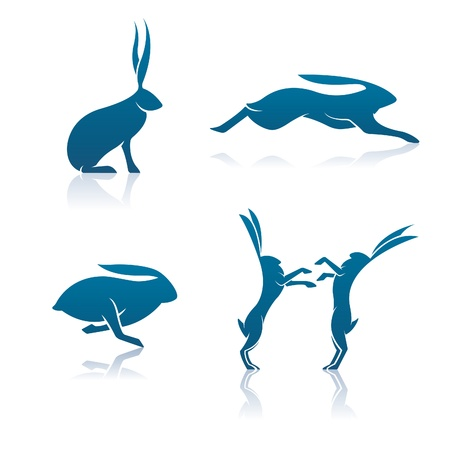 leaping: Hare Icons