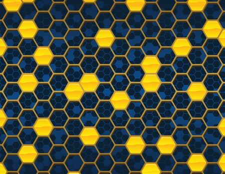 honey comb: Blue Honey Comb Background Illustration
