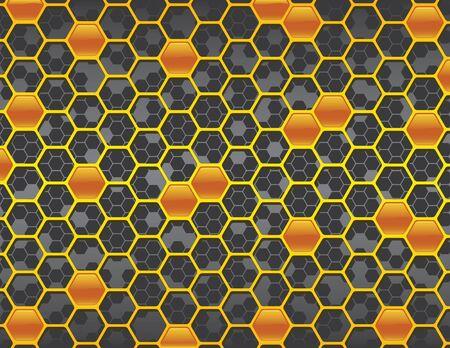 Gray Honey Comb Background