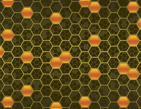 Yellow Honey Comb Background