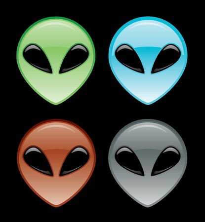 Alien Head Icon Stock Vector - 12093450