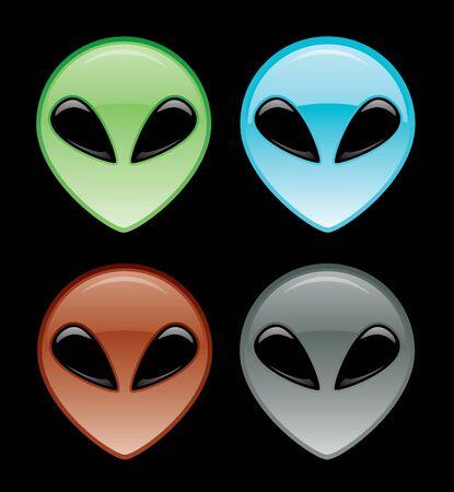 Alien Head Icon Stock Vector - 12093450