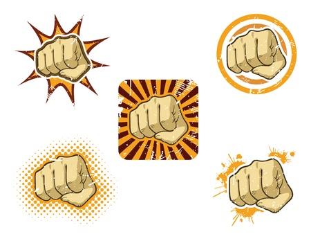 Vuist Icoon Stock Illustratie