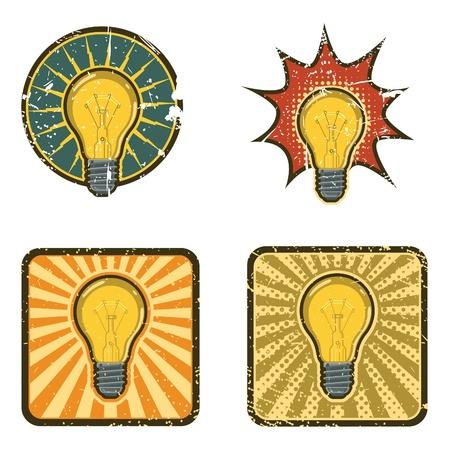 rays light: Vector Light Bulb Illustration