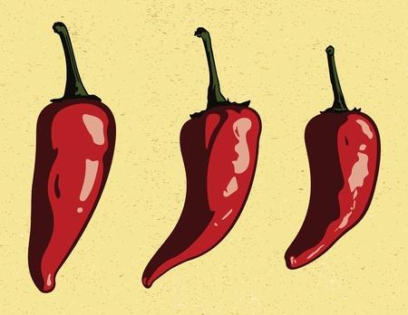 chiles picantes: Tres Chiles Jalapeños (no en vivo Trazado)
