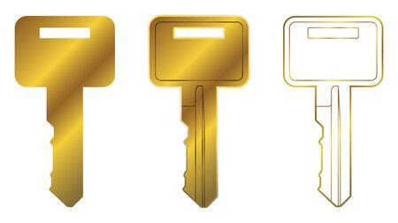 Vector Key Two Illustration