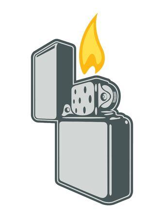 lighter: Vector Metallic Lighter