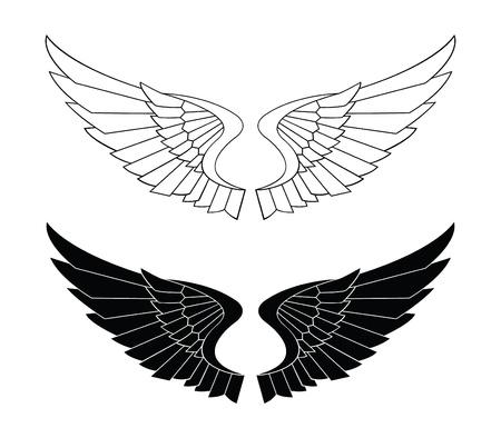 翼の翼  イラスト・ベクター素材
