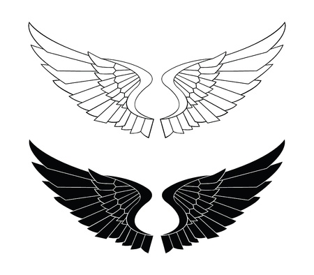 eagle flying: Bladed Wings Illustration