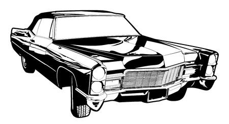 古い車のベクトル