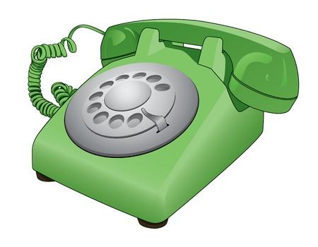 old telephone: Old Rotary Telephone Illustration