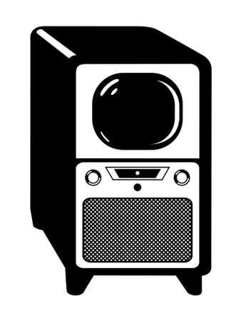Vintage Old Retro Television Stok Fotoğraf - 12097323