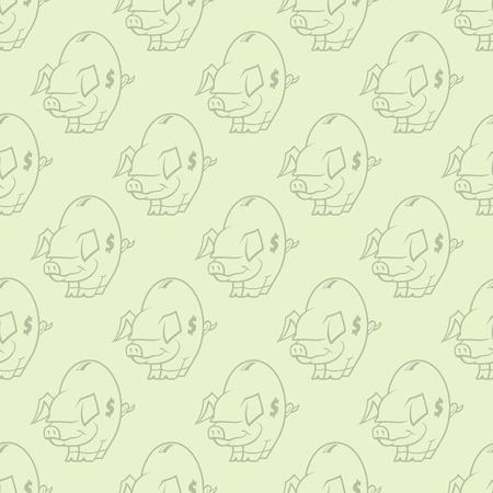 Piggy Bank Seamless Pattern