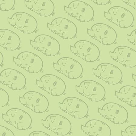 Piggy Bank Naadloze Patroon Twee Stock Illustratie