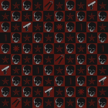 Death and Violence Seamless Pattern