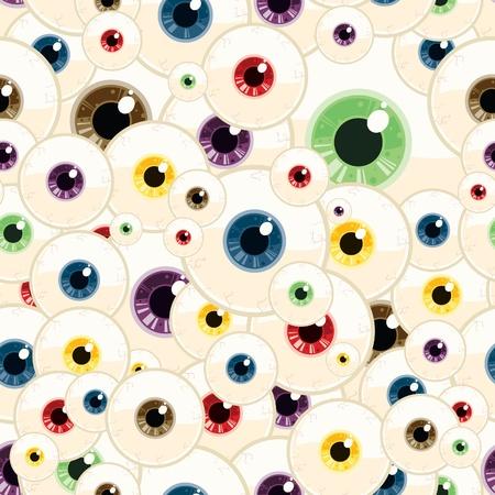 Eyeball Naadloze Patroon Stock Illustratie