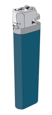Vector of a Plastic Disposable Lighter