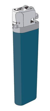 encendedores: Vectorial de un encendedor de plástico desechable